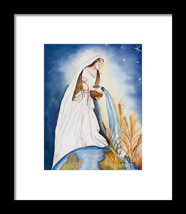 Bride Of Christ Framed Print featuring the painting Streams Of Living Waters by Malvina Laudicina