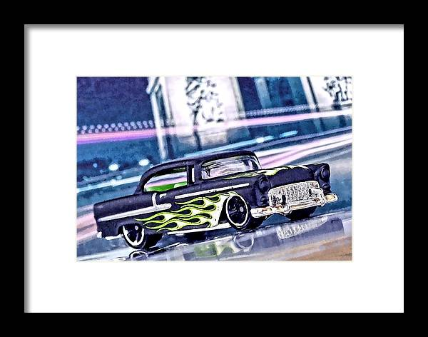 Street Cruiser Framed Print featuring the mixed media Street Cruiser - American Way Of Drive 4 By Jean-louis Glineur by Jean-Louis Glineur alias DeVerviers