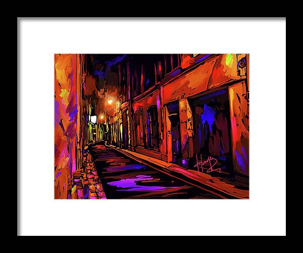 Avignon Framed Print featuring the painting Street In Avignon, France by DC Langer