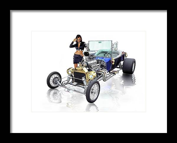 Hot Rod Framed Print featuring the digital art Street Legal .... by Rat Rod Studios