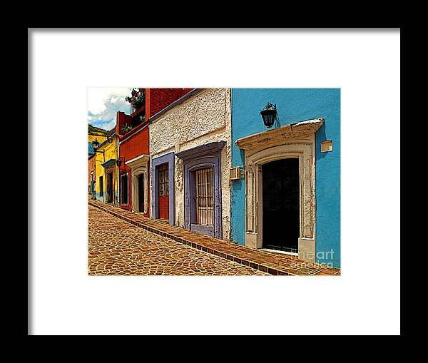 Mexicolors.com Framed Print featuring the photograph Street Of Color Guanajuato 1 by Mexicolors Art Photography
