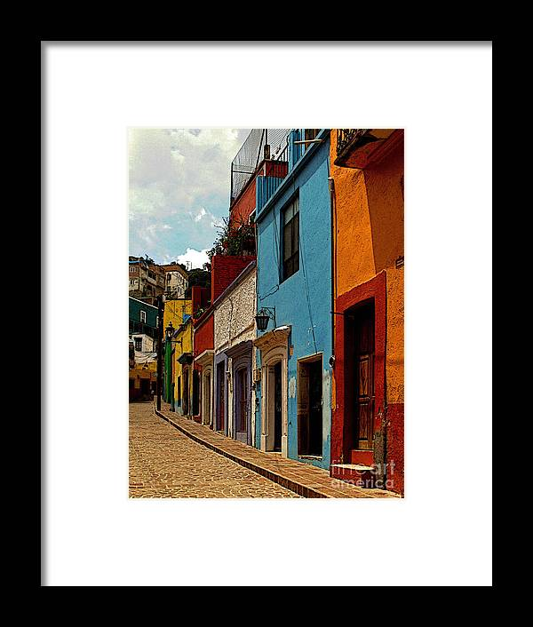 Darian Day Framed Print featuring the photograph Street Of Color Guanajuato 3 by Mexicolors Art Photography