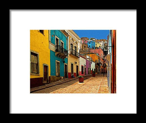 Darian Day Framed Print featuring the photograph Street Of Color Guanajuato 4 by Mexicolors Art Photography