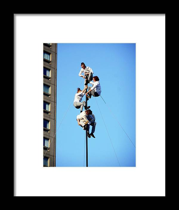Montreal Framed Print featuring the photograph Street Performers 15 by Ron Kandt