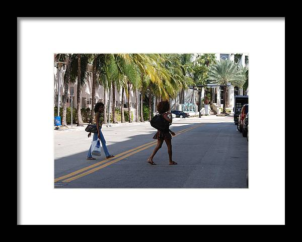 Girls Framed Print featuring the photograph Street Walkers by Rob Hans