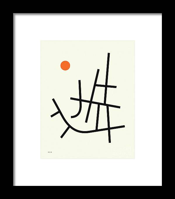 Minimal Art Framed Print featuring the digital art Streets 5 by Jazzberry Blue
