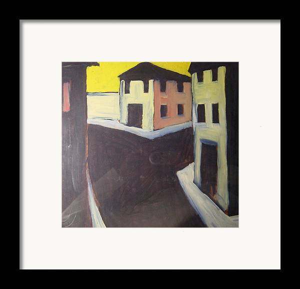 Framed Print featuring the painting Streets by Biagio Civale