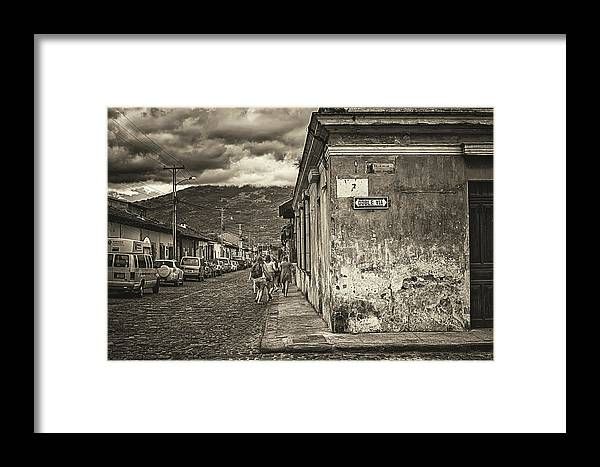 Antigua Guatemala Framed Print featuring the photograph Streets Of Antigua - Guatemala by Totto Ponce