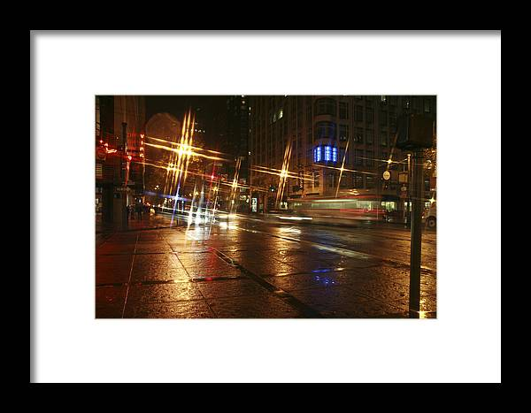 Night Framed Print featuring the photograph Streets by Wes Shinn