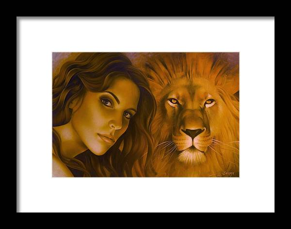 Portrait Framed Print featuring the painting Strenght And Tenderness by Arthur Braginsky