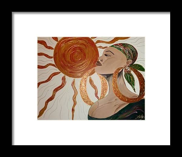 Strong Framed Print featuring the painting Strength by Leticia Acevedo