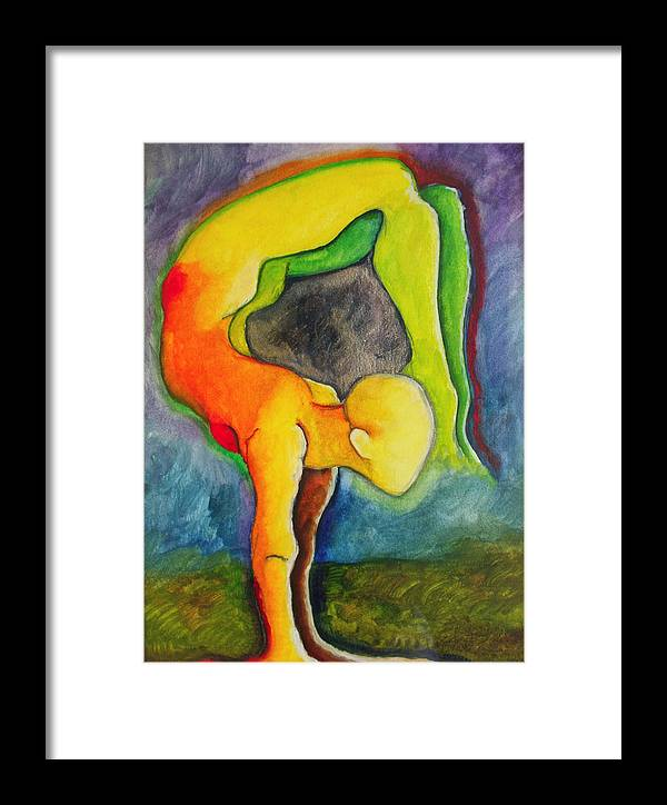 Asana Framed Print featuring the painting Strength To Move Forward And Stay Still by Erika Brown
