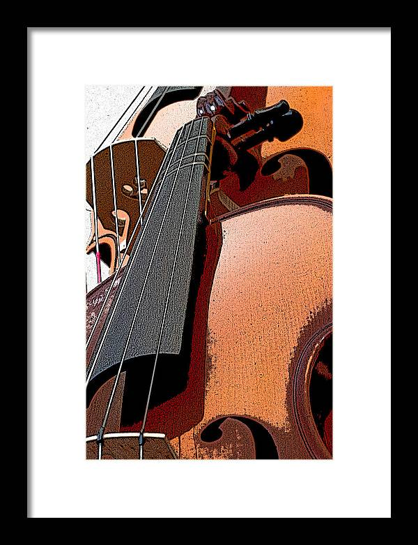 Cello Framed Print featuring the photograph Stringing Bridges by Thomas Duffy