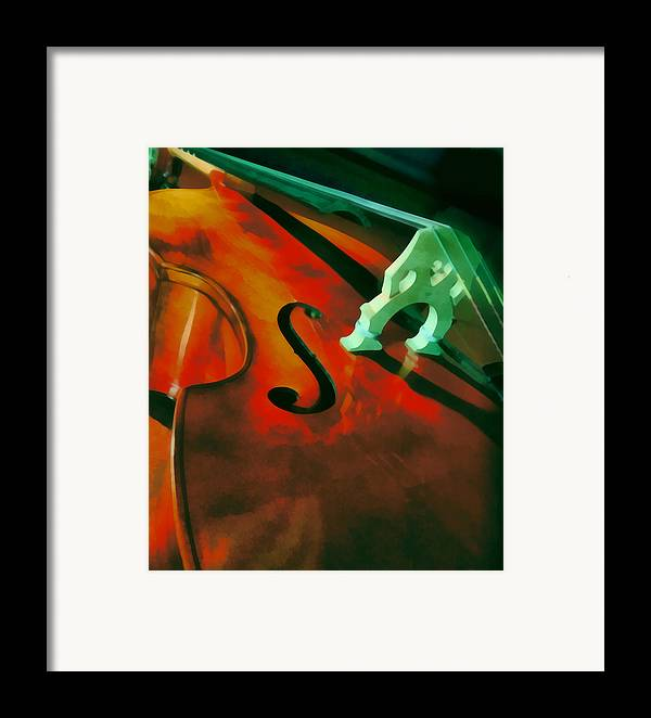 Bass Framed Print featuring the painting Strings by Naman Imagery