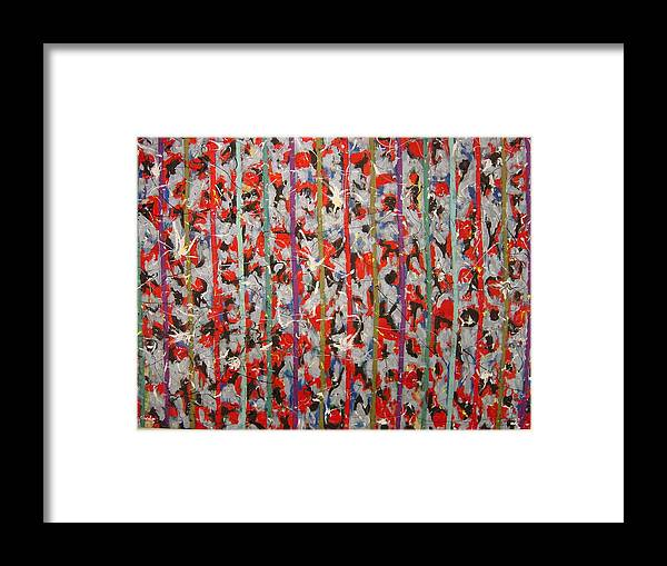 Framed Print featuring the painting Striped by Biagio Civale
