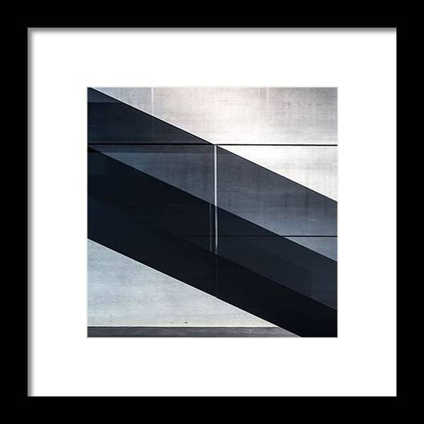 Architecture Framed Print featuring the photograph Striped by Stuart Grenfell