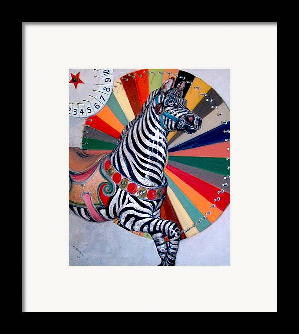 Realism Framed Print featuring the painting Stripes by Donelli DiMaria