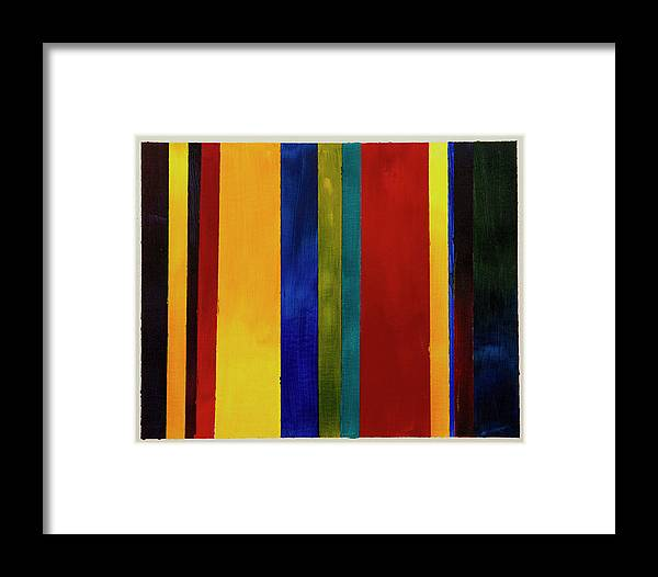 Acrylic Framed Print featuring the painting Stripes I by Chelsie Ring
