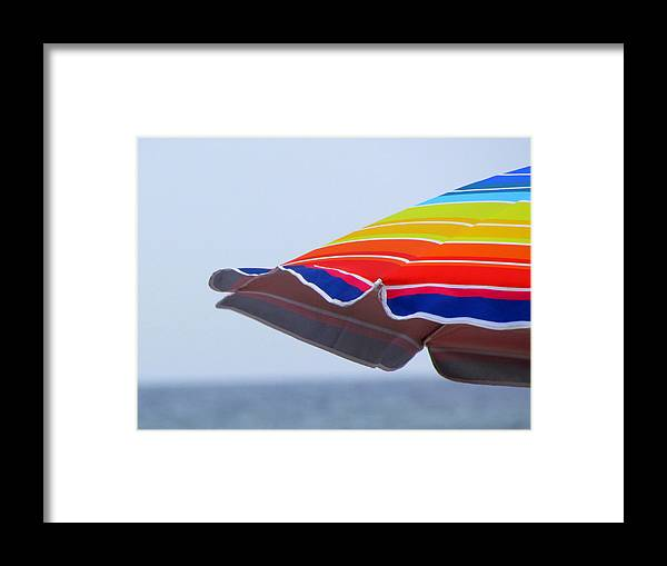 Stripes Framed Print featuring the photograph Seaside Stripes by Lori Pessin Lafargue