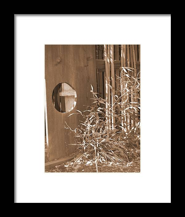 Sepia Framed Print featuring the photograph Stroll Garden 4 by Audrey Venute
