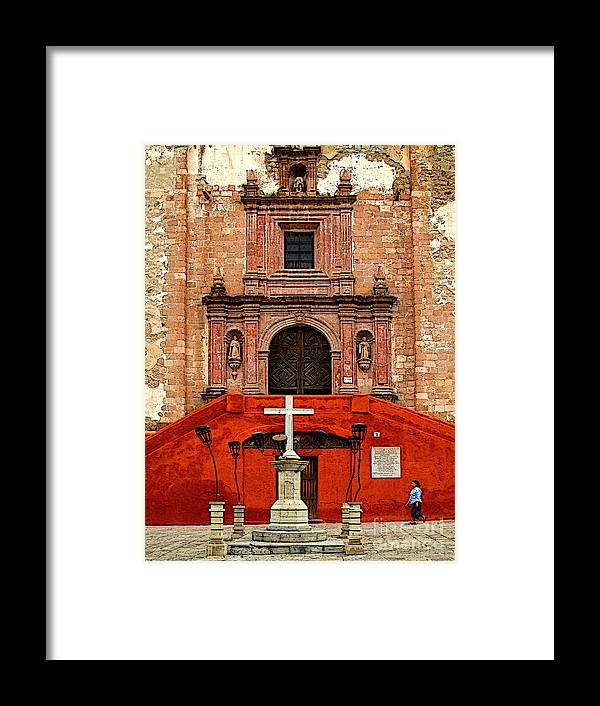 Darian Day Framed Print featuring the photograph Strolling The Cathedral Plaza by Mexicolors Art Photography