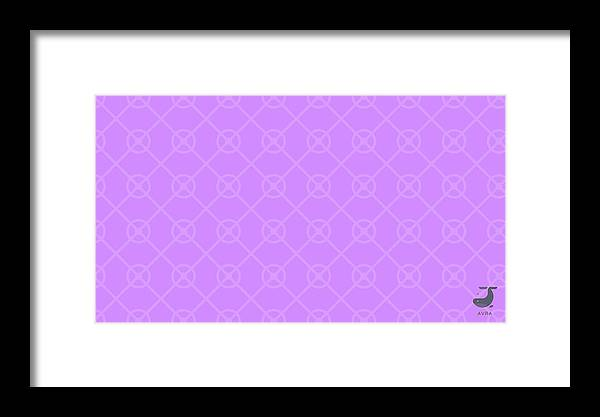 Purple Framed Print featuring the tapestry - textile Focus by Avra Yoga