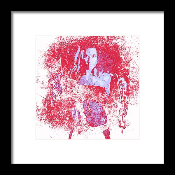 Woman Framed Print featuring the digital art Strong Women 1 by John Novis