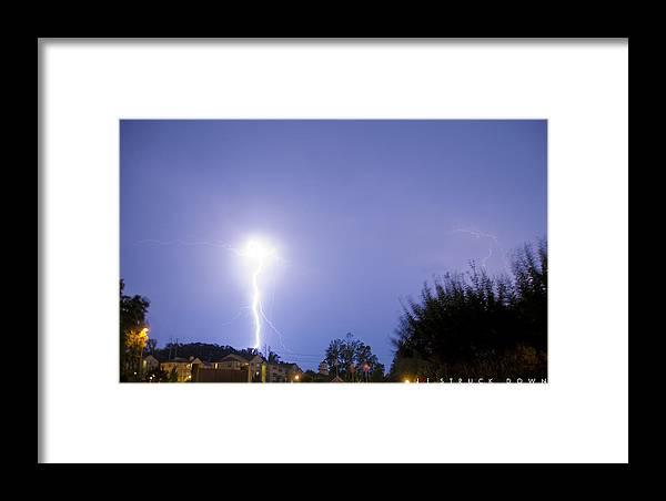 Lightening Framed Print featuring the photograph Struck Down by Jonathan Ellis Keys