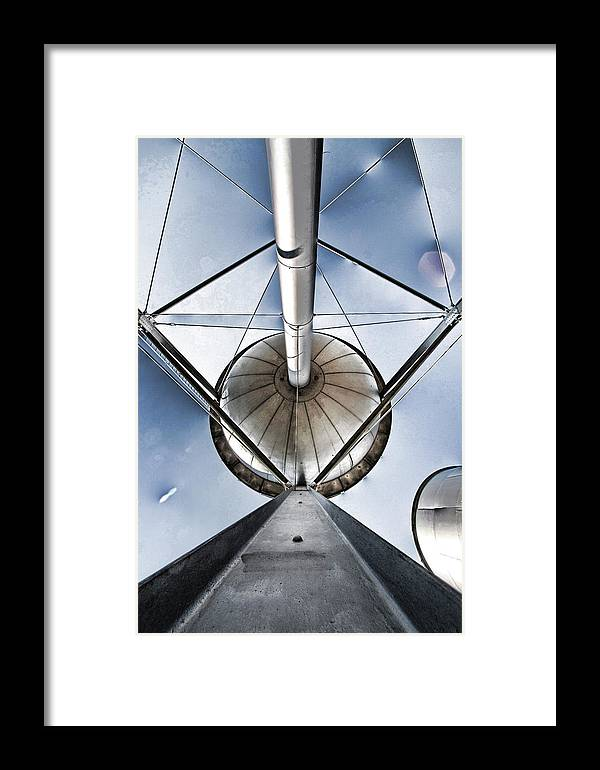 Water Framed Print featuring the photograph Structure by Alan Skonieczny
