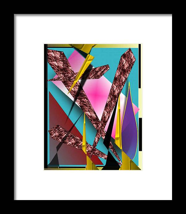 Abstracts Framed Print featuring the digital art Structure by Brenda L Spencer
