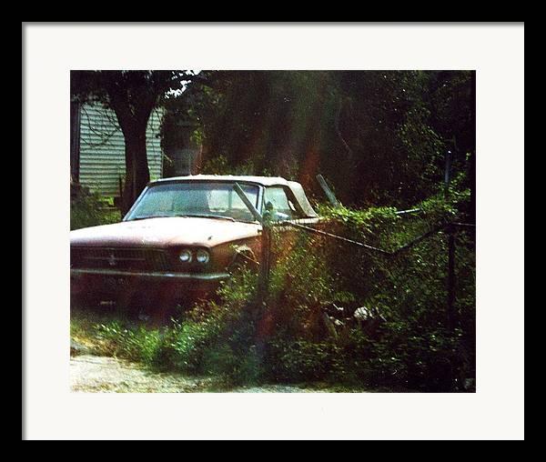 Car Framed Print featuring the photograph Stuck In Desire by Jennifer Ott