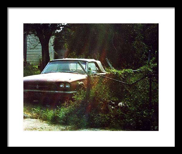 Car Framed Print featuring the photograph Stuck In Desire by Jennifer Ott