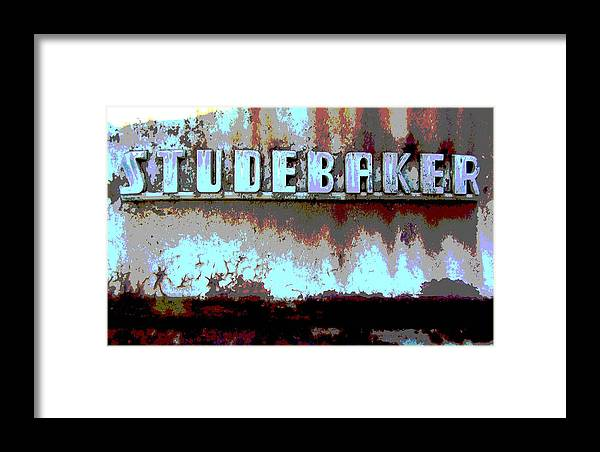 Car Framed Print featuring the photograph Studebaker by Audrey Venute