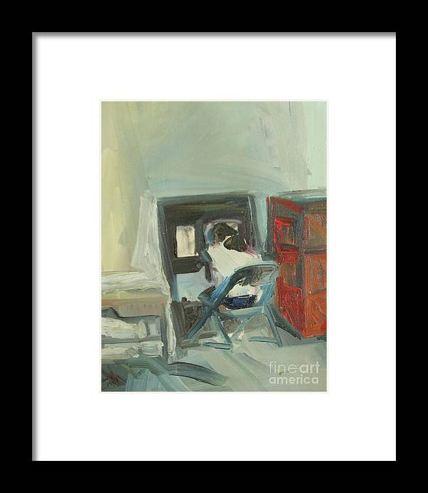 Oil Painting Framed Print featuring the painting Student by Daun Soden-Greene