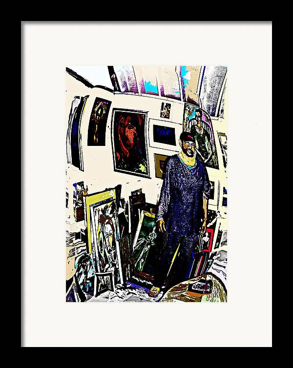 Framed Print featuring the digital art Studio 1 by Noredin Morgan