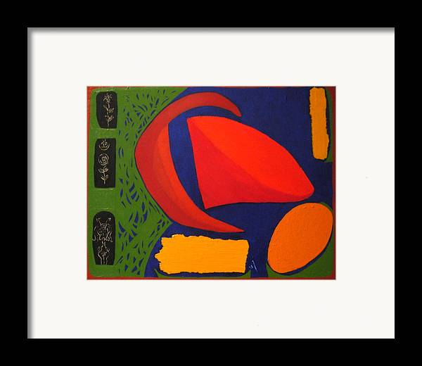 Irregular Forms; Abstract Framed Print featuring the painting Studio Number 326 by Vijayan Kannampilly