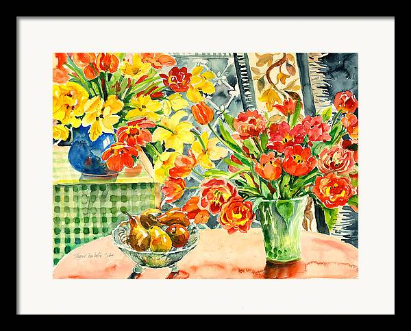 Watercolor Framed Print featuring the painting Studio Still Life by Alexandra Maria Ethlyn Cheshire