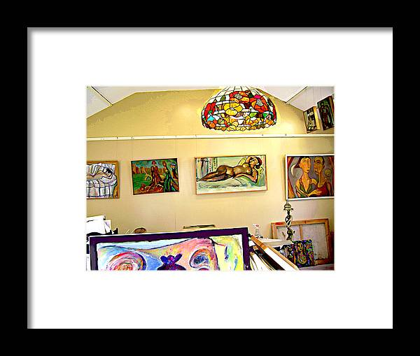 Nude Framed Print featuring the digital art Studio9 by Noredin Morgan