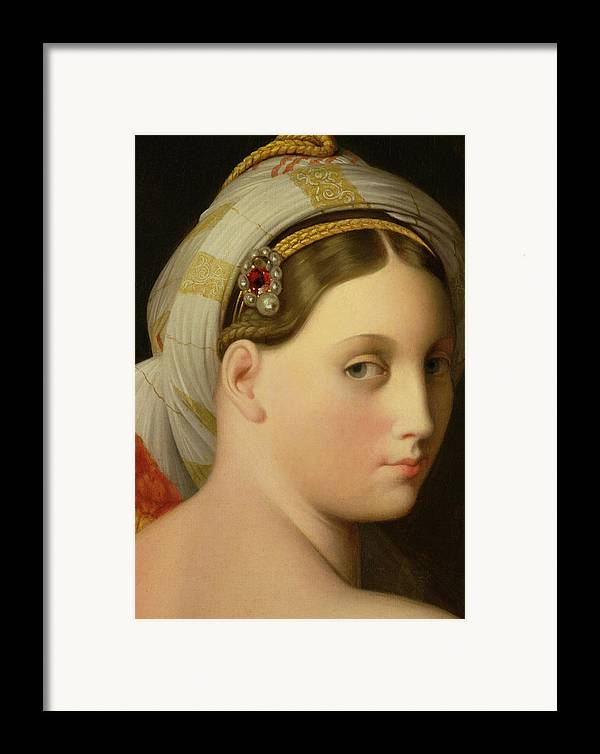 Nude Framed Print featuring the painting Study For An Odalisque by Ingres