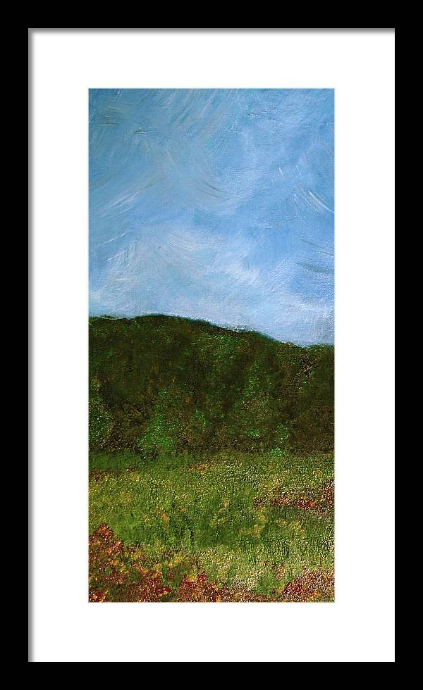 Landscape Framed Print featuring the painting Study In Light Five by Karen Fowler