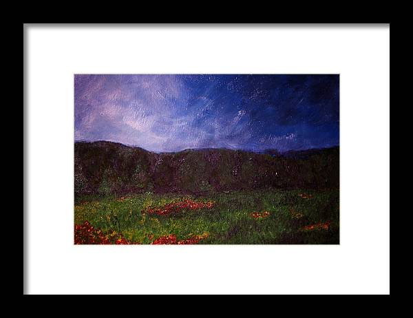 Landscape Framed Print featuring the painting Study In Light One by Karen Fowler