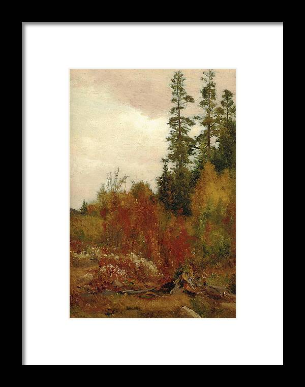Jervis Mcentee Framed Print featuring the painting Study Near Schulls by Jervis McEntee