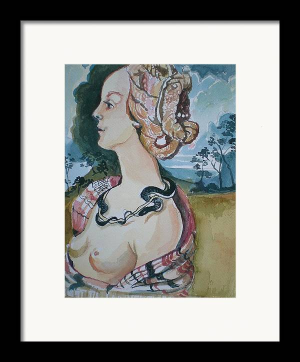 Framed Print featuring the painting Study Of Vespuccia by Aleksandra Buha