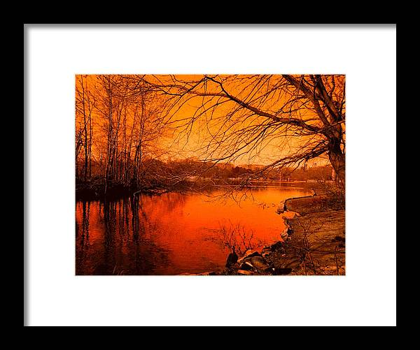Landscape Framed Print featuring the photograph Studying The Sunset by Kendall Eutemey
