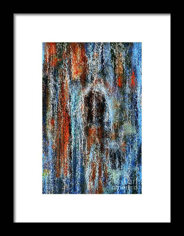 Framed Print featuring the digital art Stump Revealed by David Lane