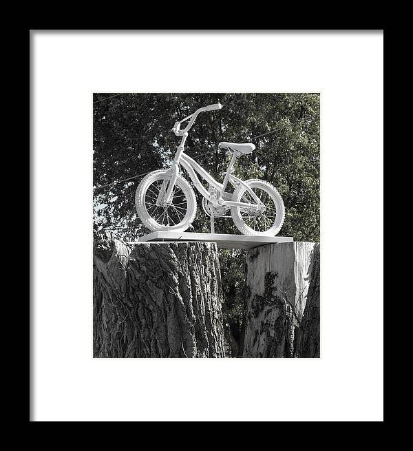Tree Stump Framed Print featuring the photograph Stumped by Kristie Bonnewell