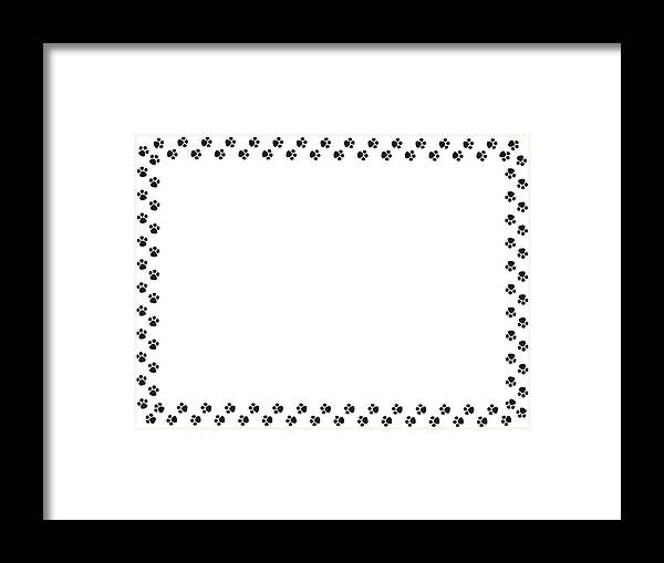 Stylized Artistic Border Frame - Picture Frame Small Paws Going In ...