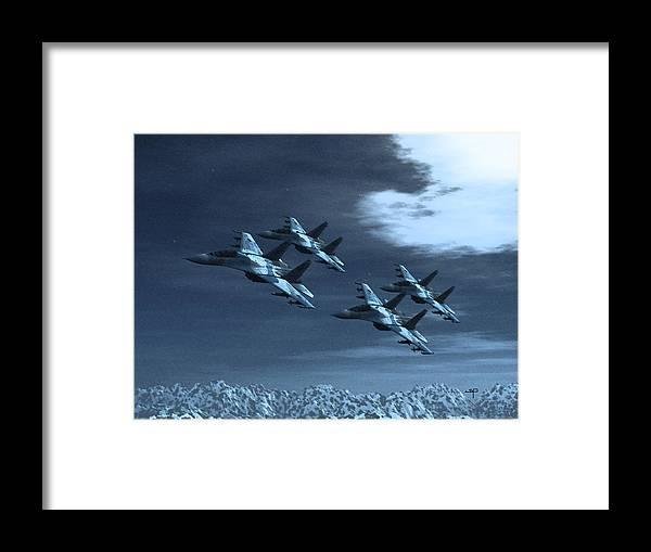 Su-35 Russian Jets Framed Print featuring the digital art Su-35 Russia by Steven Palmer