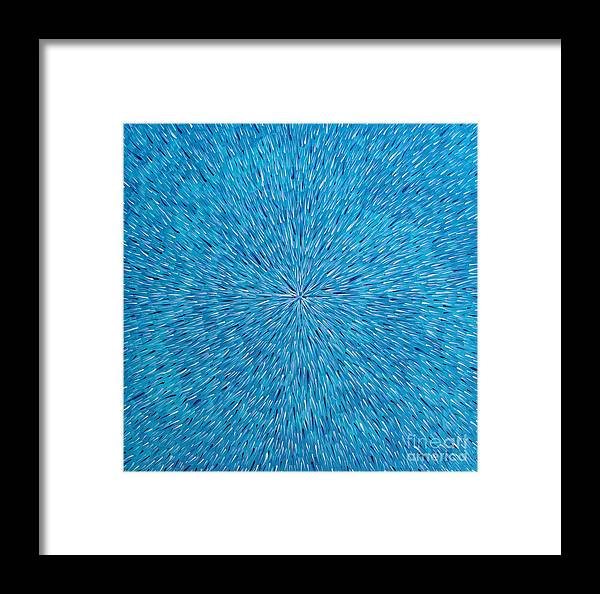 Abstract Framed Print featuring the painting Su Gaia Rain by Dean Triolo
