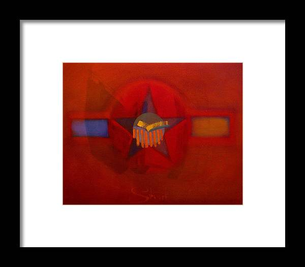 Warm Framed Print featuring the painting Sub Decal by Charles Stuart